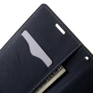 Goos PU kožené peňaženkové puzdro pre Sony Xperia M5 - zelené - 5
