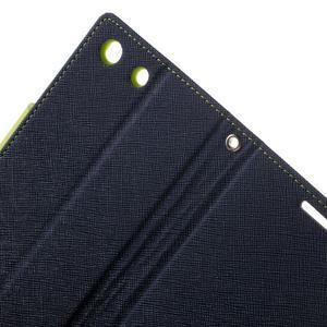 Goos PU kožené penženkové pouzdro na Sony Xperia M5 - tmavěmodré - 5