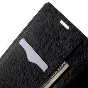 Goos PU kožené peňaženkové puzdro pre Sony Xperia M5 - hnedé - 5