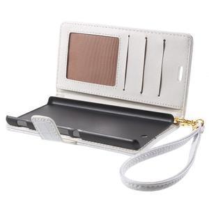 Croco Peňaženkové puzdro pre mobil Sony Xperia M5 - biele - 5