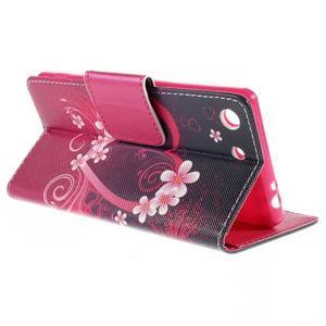 Crafty Peňaženkové puzdro pre Sony Xperia M5 - srdce - 5