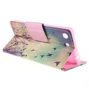 Crafty Peňaženkové puzdro pre Sony Xperia M5 - vtáčiky - 5