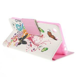 Crafty Peňaženkové puzdro pre Sony Xperia M5 - motýľe - 5