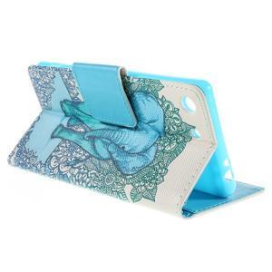 Crafty Peňaženkové puzdro pre Sony Xperia M5 - modrý slon - 5