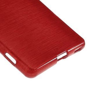 Brush gélový obal pre Sony Xperia M5 - červený - 5