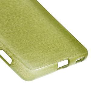 Brush gélový obal pre Sony Xperia M5 - zelený - 5