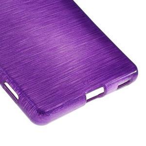 Brush gélový obal pre Sony Xperia M5 - fialový - 5