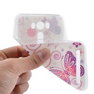 Softy gélový obal pre mobil Asus Zenfone 2 Laser - motýľek - 5