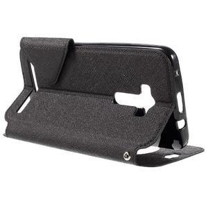 Peňaženkové puzdro s okienkom pre Asus Zenfone Selfie ZD551KL - čierné - 5