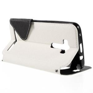 Peňaženkové puzdro s okýnkem na Asus Zenfone Selfie ZD551KL - biele - 5