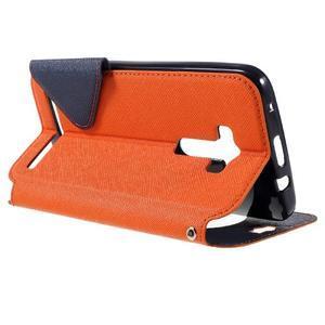 Peňaženkové puzdro s okýnkem na Asus Zenfone Selfie ZD551KL - oranžové - 5