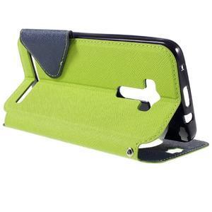Peňaženkové puzdro s okienkom pre Asus Zenfone Selfie ZD551KL - zelené - 5