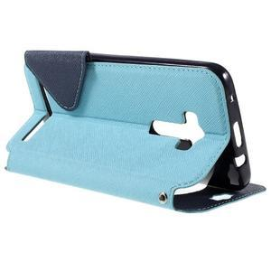 Peňaženkové puzdro s okýnkem na Asus Zenfone Selfie ZD551KL - svetlo modré - 5