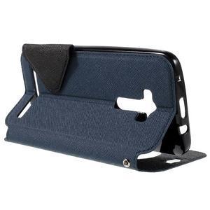 Peňaženkové puzdro s okýnkem na Asus Zenfone Selfie ZD551KL - tmavo modré - 5