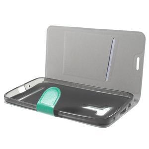 Horse peňaženkové puzdro pre Asus Zenfone Selfie ZD551KL - modré - 5