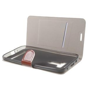 Horse peňaženkové puzdro na Asus Zenfone Selfie ZD551KL - hnedé - 5