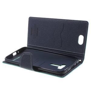 Mr. Goos peňaženkové puzdro pre Asus Zenfone Selfie ZD551KL - cyan - 5