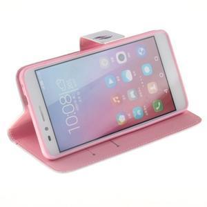 Peňaženkové puzdro pro mobil Honor 5X - farebná pierka - 5