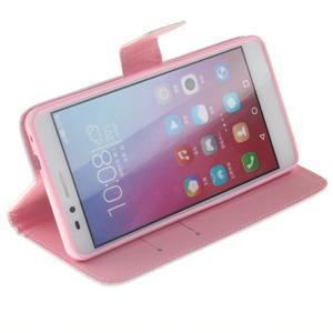 Peňaženkové puzdro pro mobil Honor 5X - vtačie pierko - 5
