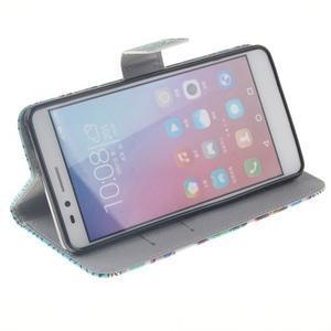 Peňaženkové puzdro pro mobil Honor 5X - geo tvary - 5