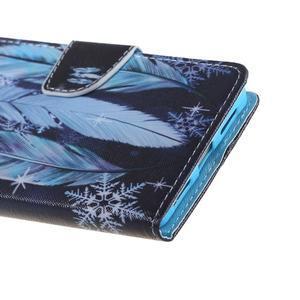 Knížkové pouzdro na mobil Honor 5X - peříčka - 5