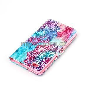 Zapínacie peňaženkové puzdro na Huawei Ascend P8 Lite - henna - 5