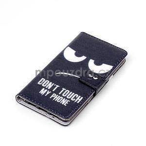Zapínací peněženkové pouzdro na Huawei Ascend P8 Lite - nešahat - 5