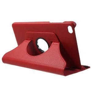 Otočné polohovateľné puzdro na Huawei MediaPad M2 - červené - 5