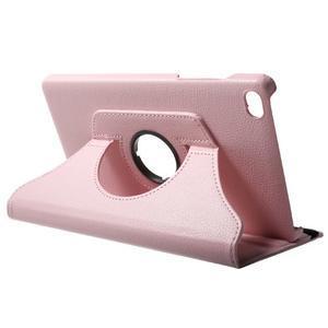 Otočné polohovatelné pouzdro na Huawei MediaPad M2 - růžové - 5