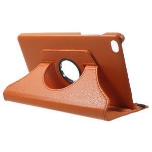 Otočné polohovatelné pouzdro na Huawei MediaPad M2 - oranžové - 5