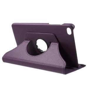Otočné polohovateľné puzdro na Huawei MediaPad M2 - fialové - 5