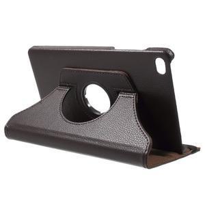 Otočné polohovateľné puzdro na Huawei MediaPad M2 - tmavohnedé - 5