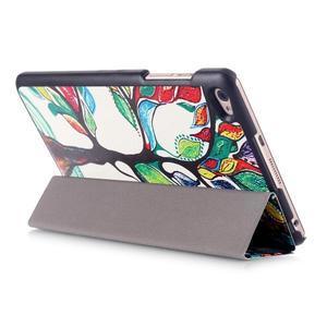Třípolohové pouzdro na tablet Huawei MediaPad M2 8.0 - malovaný strom - 5