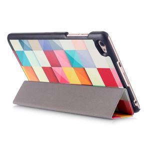 Třípolohové pouzdro na tablet Huawei MediaPad M2 8.0 - barevné kostičky - 5