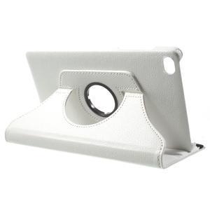 Otočné polohovatelné pouzdro na Huawei MediaPad M2 - bílé - 5
