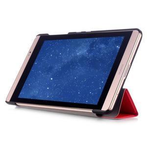 Trifold polohovatelné puzdro na tablet Huawei MediaPad M2 8.0 - červené - 5