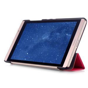 Trifold polohovateľné puzdro na tablet Huawei MediaPad M2 8.0 - rosa - 5