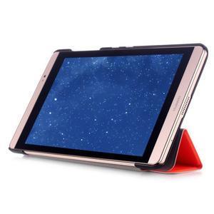Trifold polohovateľné puzdro na tablet Huawei MediaPad M2 8.0 - oranžové - 5