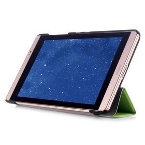 Trifold polohovatelné puzdro na tablet Huawei MediaPad M2 8.0 - zelené - 5