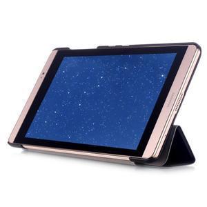 Trifold polohovatelné puzdro na tablet Huawei MediaPad M2 8.0 - čierné - 5