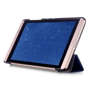 Trifold polohovateľné puzdro na tablet Huawei MediaPad M2 8.0 - tmavo modré - 5