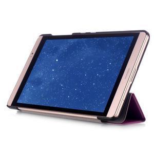 Trifold polohovateľné puzdro na tablet Huawei MediaPad M2 8.0 - fialové - 5