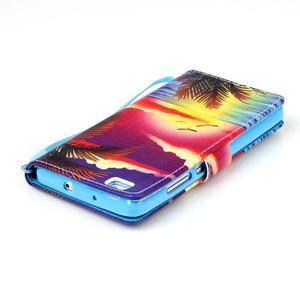 Picture PU kožené puzdro na Huawei P8 Lite - plážová scenéria - 5