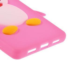 Tučňák silikonový obal na mobil Huawei P8 Lite - rose - 5