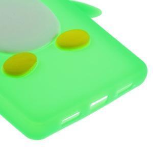 Tučňák silikonový obal na mobil Huawei P8 Lite - zelený - 5