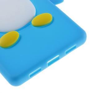 Tučňák silikonový obal na mobil Huawei P8 Lite - modrý - 5