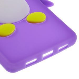 Tučňák silikonový obal na mobil Huawei P8 Lite - fialový - 5