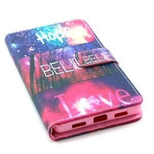 Standy peněženkové pouzdro na Huawei P8 Lite - believe - 5