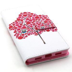 Standy peněženkové pouzdro na Huawei P8 Lite - strom soviček - 5