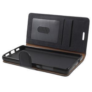 Clothy PU kožené pouzdro na mobil Huawei P8 Lite - černé - 5